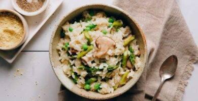 Risotto Vegano con Miso y Verduras de Primavera